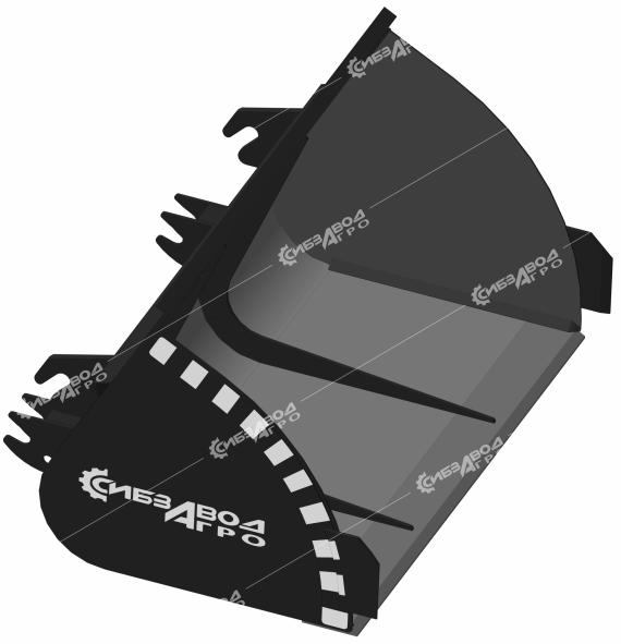 Ковш грунтовый V=0,5 м.куб., L=1600 мм. КГр-0,12 (к ПФ-1-1200 «Медведь»)