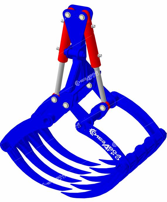 Навеска грейферная ВГ-01У с вилами (усиленного исполнения)